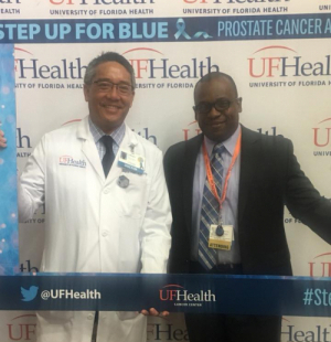 dr su and dr tyndall at the prostate cancer atrium event in sept 2018